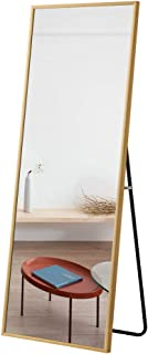 MiraHope 全身鏡 スタンドミラー 大型 姿見鏡 全身ミラー 壁掛け鏡 おしゃれ 幅50cm 高さ160cm (ゴルード)