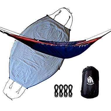 Chill Gorilla 40°F Hammock Underquilt Blanket. Lightweight Fits All Camping Hammocks. Under Quilt Keeps You Warmer 7 Saves Space. Camping Backpacking & Survival Gear. Camp Accessories. Blue