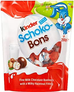 KINDER SCHOKO BONS, 4 packages with each 200 grams, total 800 grams by Ferrero