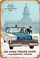 Police Cars ティンサイン ポスター ン サイン プレート ブリキ看板 ホーム バーために