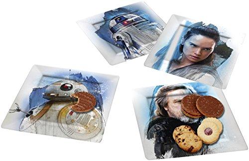 Star Wars Episode VIII The Resistance Set de Platos, Melamina, Multicolor, 20.5x20.5x4.5 cm, 4 Unidades