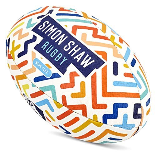 Simon Shaw Rugby-Ball, Neon-Flex, Größe 4