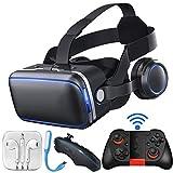 ❤Das Produkt ist eine Kombination Filme beobachten und Spiele, die das Telefon in ein Kino / 3D-Spiel Halle machen. Das Produkt muss nicht aufgeladen werden, setzen Sie das Mobiltelefon in die VR Brille, das 3D-APP und anderen Handy-Player herunterla...