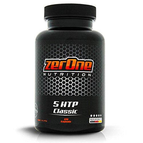 Zerone 5-HTP Reines Griffonia Extrak | 120 Kapseln 100 mg Griffonia Extrakt Kapsel | Deutsche Produktion Hochwertige Qualität
