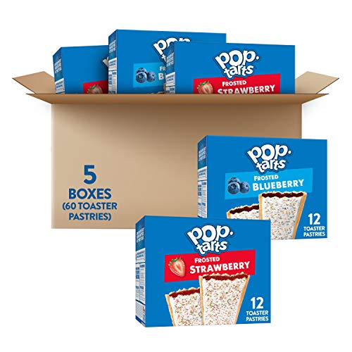 Pop-Tarts, Breakfast Toaster Pastries, Variety Pack, Fun Snacks for Kids (60 Toaster Pastries)
