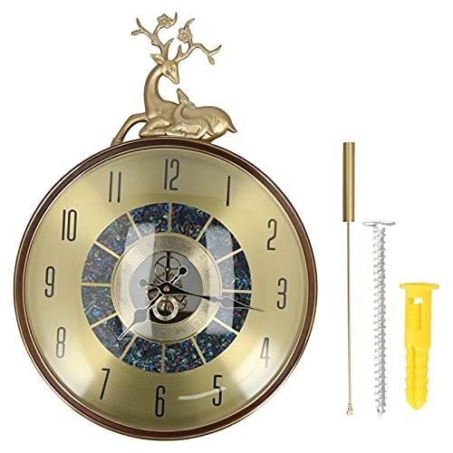 01 Reloj De Pared, Estilo Europeo, Lujo, Elegante, Péndulo, Reloj De Pared, Silencioso, Reloj De Pared, Reloj De Pared para La Oficina En Casa, Sala De Estar, Dormitorio, Cocina, Decoración