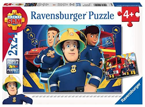 Ravensburger Italy Sam Il Pompiere Puzzle, 2x24 Pezzi, Multicolore, 09042