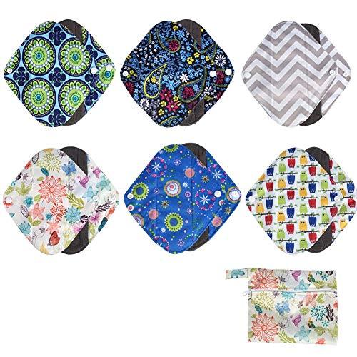Menstruatiepads 1 stuk wasbaar Wet Bag + 6 stuks herbruikbare bamboe doek sanitair menstruatiepads Panty Liner