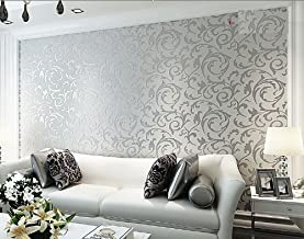 Toprate Emboss Textured Pattern Wallpaper Decal, 394 by 21-Inch
