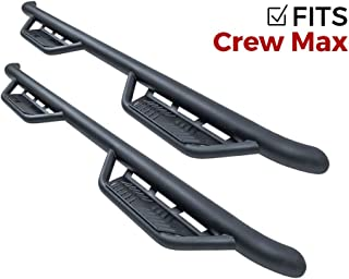 Havoc HS2 Black Hoop Nerf Bars Truck Steps (fits Only) 2007-2018 Toyota Tundra CrewMax