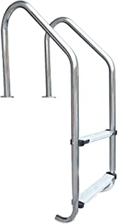 QDY-Handrails Easy Installation Pool Ladder, 2-Step Stainless Steel Inground Swimming Pool Stairs w/Non-Slip Footstep, 440...