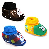 Kids Choice Baby Shoes for Boy's and Girl's Canvas with Anti-Slip Sole Combo