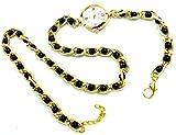 Damen-Uhren Wickel-Armband-Uhr Perlen schwarz gold