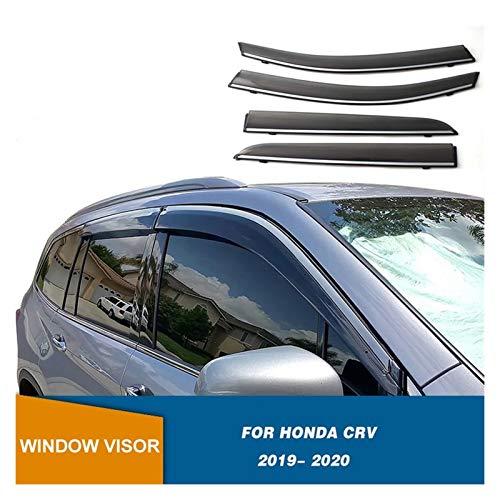 CGDD Windabweiser Für Honda CRV 2019 2020 Seitenfenster Deflektor Smoke Winodow Visor Vent Shades Sun Rain Deflektor Guard Fenstervisier Rauchabzug Schatten
