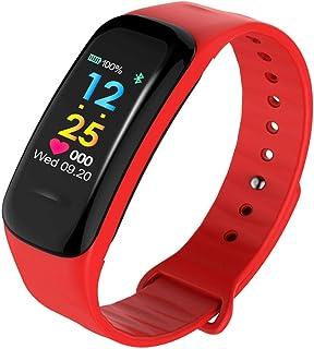 DSN Pulsera Actividad Inteligente Hombre Correas, Actividad Contador Calorías Notificación Mensaje Pulsómetro Sleep Monitores iOS Android Mujer Hombre Niño Smart Watch,
