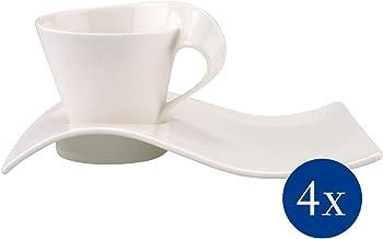 Villeroy en Boch NewWave Caffè Cappuccinoset, 8-delig, premium porselein, wit
