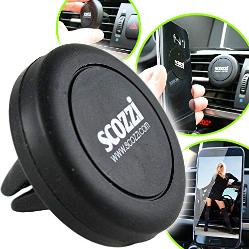scozzi Handyhalterung Auto Magnet Lüftung Lüftungsschlitz KFZ Handy Halterung universal (kompatibel mit Huawei & Sony) P40 P30 P20 P8 Mate 30 20 X XS P Smart Y7 Y6 Y6s Y5 nova 10 5 1 E5 Pro Plus Lite