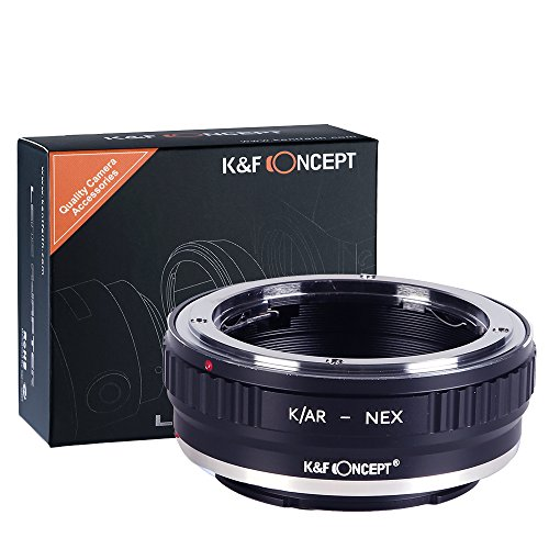 K&F Concept Konica-NEX Objektivadapter, Sony NEX Adapter, Objektiv Adapterring für Konica AR Objektiv auf Sony NEX E-Mount Kamera Sony NEX-3 NEX-3C NEX-5 NEX-5C NEX-5N NEX-5R NEX-6 NEX-7 NEX-VG10
