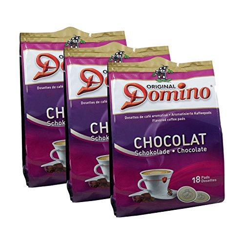 3 x DOMINO Kaffeepads Schokolade 18 Pads