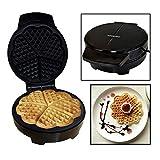 Voche Pro Electric Waffle Maker Iron Machine Making Heart Shaped Waffles - Non Stick Deep Cooking Plates - 1000w
