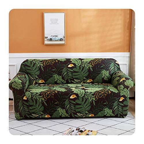 Funda de sofá flexible con diseño de flores pastorales, todo incluido, elástica, para sofá, toalla para decoración del hogar, 1/2/3/4, color 03-2 asientos, 145-185 cm