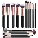 XUBX 16 Piezas Pinceles de maquillaje Set, profesional Set de brochas de maquillaje, para Sombra de Ojos, Colorete, Polvo y Cejas, Pinceles de Maquillaje Juego