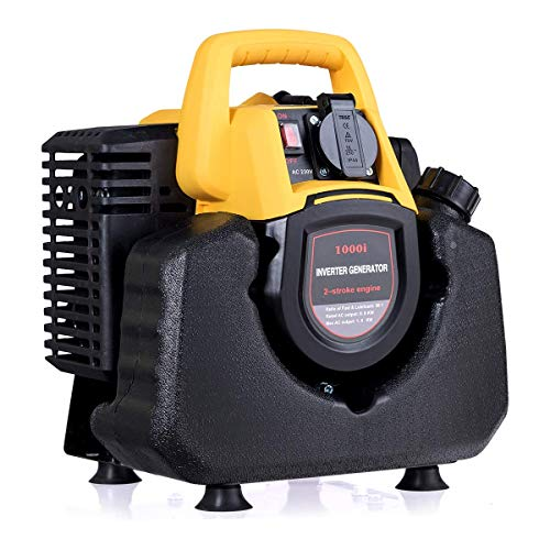 COSTWAY Generador Eléctrico de Gasolina Potencia máxima1000W/ Potencia Nominal 800W,230V,Depósito 3,5L Portátil