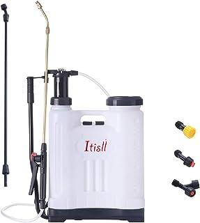 ITISLL 4 Gallon Backpack Sprayer, Leak-Free Pump Sprayer with Telescopic Brass Wand, Durable Polyethylene Wand and 4 Nozzl...