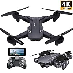 4K HD FPV Flight: Equipped with 4k + 0.3MP dual cameras. The mobile phone can be connected to the APP to enjoy the world that the drone can see in real time, or to observe or look around, giving you a flying and exciting experience! FOLDING SHARK DES...
