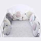 6 unids/set de parachoques de cama de bebé con forma de elefante, almohada de cartón, parachoques para bebé, Protector de cuna para bebé, juego de ropa de cama para bebé