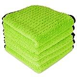 Liquid X Plush Waffle Weave Green Xtreme Microfiber Detailing Towel 16' x 16'...