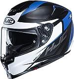 HJC Helmets Casco de moto RPHA 70 SAMPRA MC2SF, Negro/Blanco/Azul, S