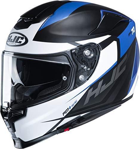 HJC Helmets Herren Nc Motorrad Helm, Schwarz/Weiss/Blau, L