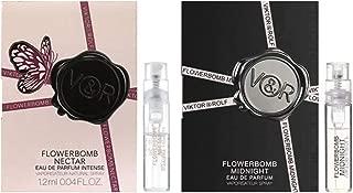 Victor & Rolf Flowerbomb Midnight & Flowerbomb Nectar Sample Sprays, 2 Piece Set