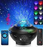 LED Sternenhimmel Projektor - Aibeau LED Sternenlicht Projektor Nachtlicht Lampe & Ozeanwellenprojektor mit Fernbedienung & Bluetooth Lautsprecher für Kinder Erwachsene Ostern Party Schlafzimmer
