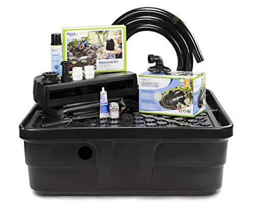 Aquascape 83013 Landscape Backyard Waterfall Fountain Kit, Black