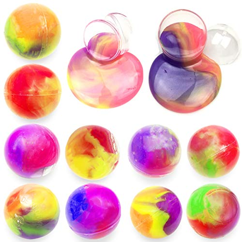Anditoy 10 Pack Big Slime Balls Colorful Silly Putty Toys for Kids Girls Boys Easter Basket Stuffers Party Favors