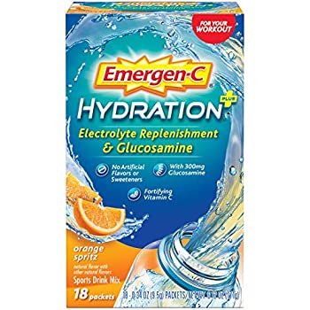 Emergen-C Hydration Plus Sports Drink Mix with Vitamin C Powder Packets 0.34 Ounce  Pack of 18  6.12 Ounce