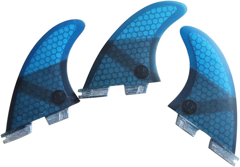 UPSURF Surfboard Tri Fin FCS2 M Size Fiberglass+Honeycomb G5 G7 Thruster Set