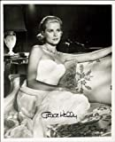 GRACE KELLY AUTOGRAPH, PHOTO PRINT, APPROX SIZE 12X8 INCHES