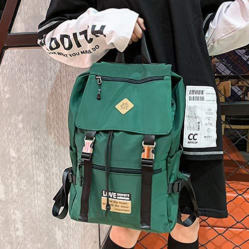 Ajing Mochila escolar para niñas, de nailon, estilo informal, para adolescentes, unisex, duradera, para estudiantes, para viajes, al aire libre, mochila de ocio