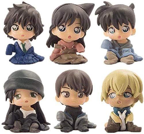 LPJPCR 6 Teile/Box sitzung Conan Kinder Spielzeug kudo Shinichi akai hideichi PVC Desktop Dekoration Anime Action Figure kollektive Box