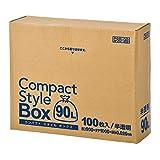 ジャパックス ごみ袋 コンパクトスタイルボックス 半透明 90L 約横90 縦100cm 厚さ0.02mm 収納場所に困らないコンパクトな箱入り ポリ袋 CSB-98 100枚入