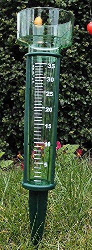 Regenmesser - Niederschlagsmesser aus Kunststoff mit Erdspieß grün