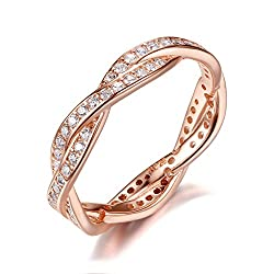 This is the ring that best reflects the charm of women. Beautiful and luxurious appearance, noble and stylish. Its appearance is rose gold, 925 sterling silver, inlaid cubic zirconia, bright appearance. This is the best holiday gift choice, you can s...