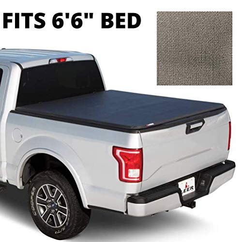 LEER Latitude SC | Fits 2015+ Ford F-150 | Easy Install, Soft Tri-Fold Truck Bed Tonneau Cover (Matte Black) (6.6 FT Bed)
