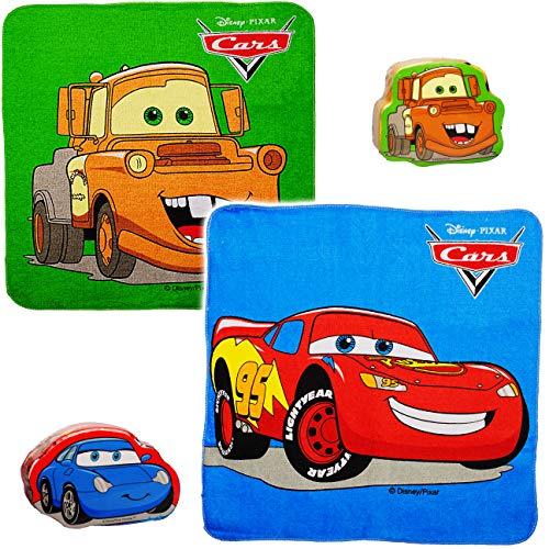 alles-meine.de GmbH magischer Waschlappen / Handtuch - Zauberwaschlappen - Disney Cars - Auto - Lightning McQueen - Frottee aus 100 % Baumwolle - Magic Towel - Waschfleck - Wasch..