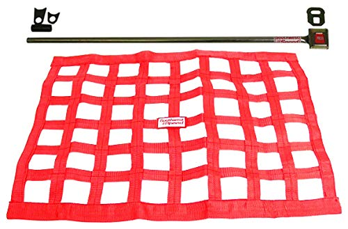 Southwest Speed New RED Racing Window NET & Push Button Installation KIT W/Hardware,18' X 22' Ribbon,Modified,Late Model,Street Stock,Grand National,Mini-Stock,Factory Stock,Dwarf Cars,Legends