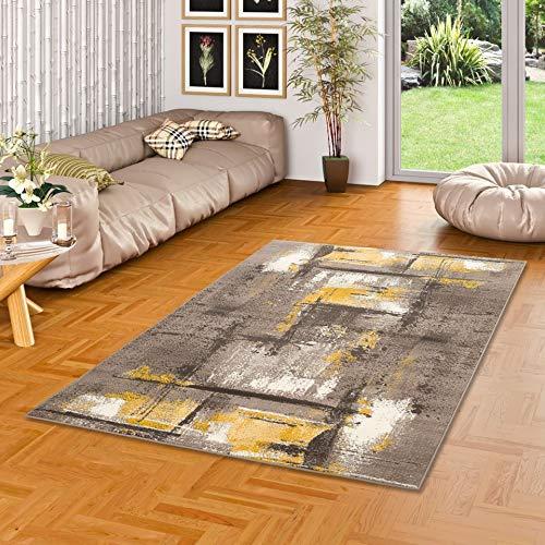 Pergamon Designer Teppich Samba Modern Beige Braun Urban in 5 Größen