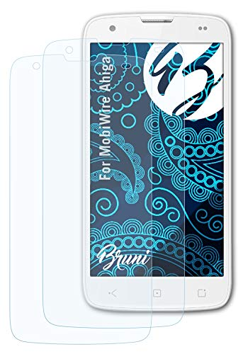 Bruni Schutzfolie kompatibel mit MobiWire Ahiga Folie, glasklare Bildschirmschutzfolie (2X)